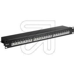 Patchpanel Cat. 6 24 Port schwarz